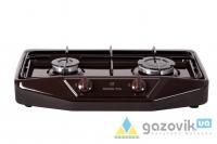 Плита газовая двухгорелочная настольная модель 1103 без крышки коричневая - Плиты газовые  - интернет-магазин Газовик - уменьшенная копия
