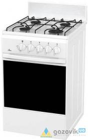 Плита газовая FLAMA RG 24017 четырехгорелочная белая/коричневая Россия - Плиты газовые  - интернет-магазин Газовик