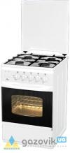 Плита газовая FLAMA RG 2428 четырехгорелочная белая/коричневая Россия - Плиты газовые  - интернет-магазин Газовик - уменьшенная копия