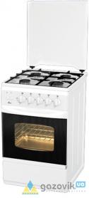 Плита газовая FLAMA RG 2428 четырехгорелочная белая/коричневая Россия - Плиты газовые  - интернет-магазин Газовик