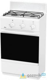 Плита газовая FLAMA  CG 3205 двухгорелочная белая/коричневая Россия - Плиты газовые  - интернет-магазин Газовик