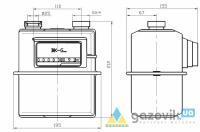 Счетчик газовый мембранный Elster BK-G1,6 - Счетчики  - интернет-магазин Газовик