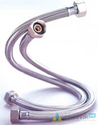 Шланг металлический Нержавеющий д/воды  d.12 1/2 ВВ 120см - Запчасти - интернет-магазин Газовик