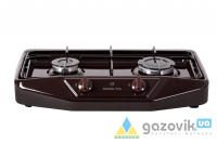 Плита газовая двухгорелочная настольная модель 1103 без крышки коричневая - Плиты газовые  - интернет-магазин Газовик