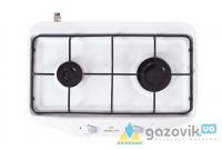 Плита газовая GRETA двухгорелочная настольная модель 1103 без крышки белая - Плиты газовые  - интернет-магазин Газовик