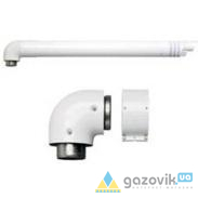 Горизонтальный комплект труб 60/100 для котлов Protherm кондесационных  - Котлы - интернет-магазин Газовик