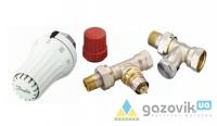 Комплект для бокового подключения Danfoss (RAE + RA-N + RLV-S), D 1/2, прямой  (013G5174) - Терморегуляторы -